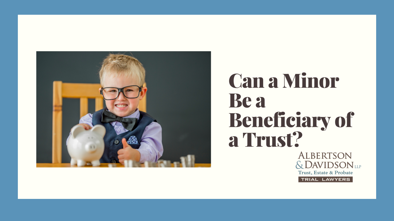 2020.12.08 Can a Minor be a Beneficiary of a Trust